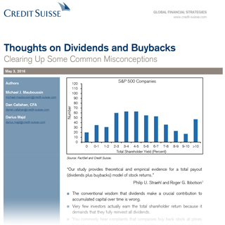 Thoughts on Dividends and Buybacks